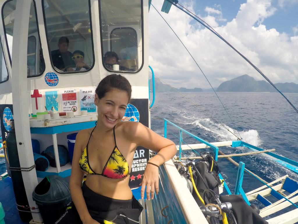 Chilling on the Diving Boat
