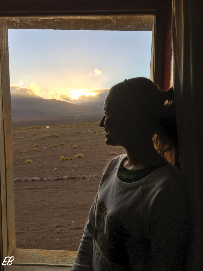 Room with a view at Tayka Hotel del Desierto, Bolivian High Plains