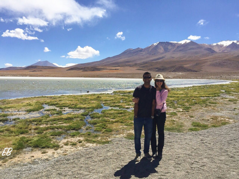 Lagoon in the Bolivian High Plains