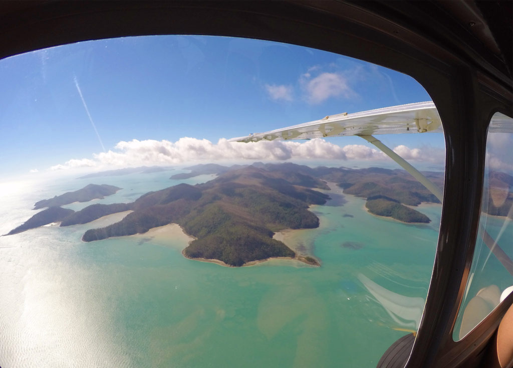 EB_ Whitsundays seen from Airplane