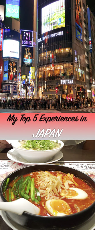 The top 5 experiences I enjoyed the most in Japan that I highly recommend you doing during your trip to this country.