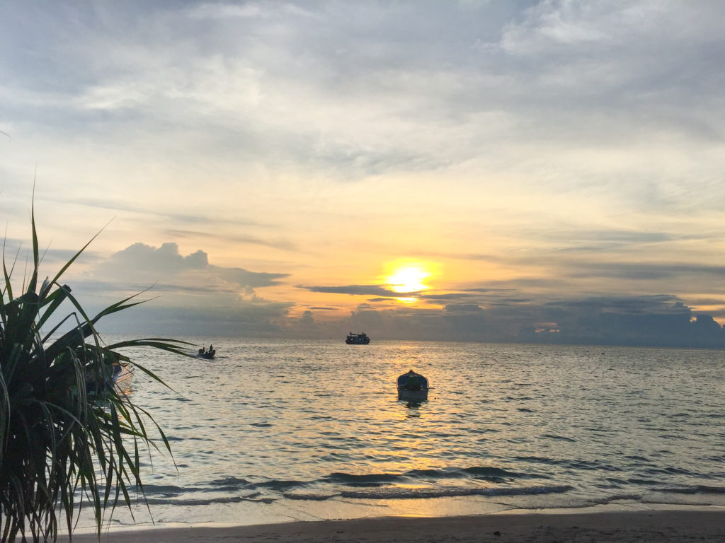 Watching Sunset at Sairee Cottage Diving Restaurant in Koh Tao