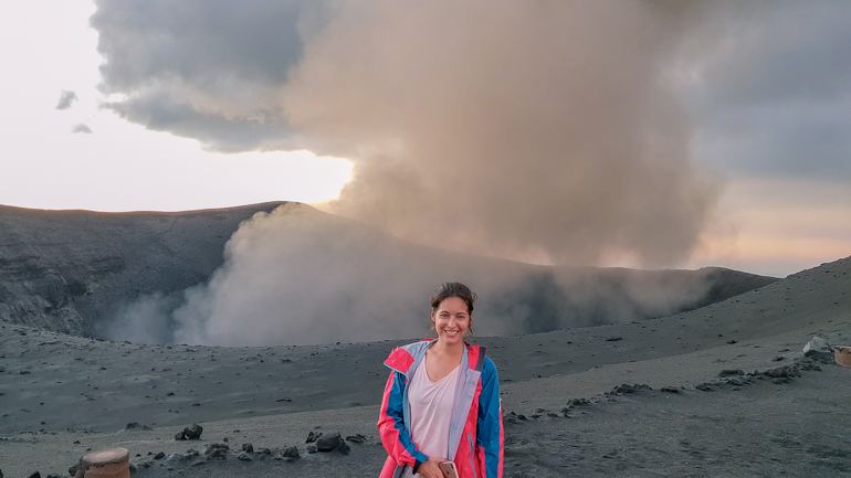 Mount Yasur at dusk