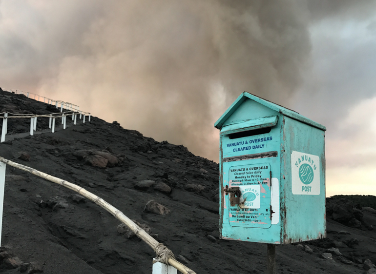 Postbox at Mount Yasur